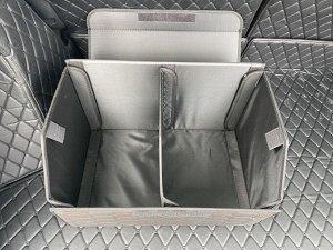 НОВИНКА ! Органайзер Средний Эко Кожа в багажник авто Черный с красной строчкой Akuma