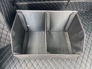 НОВИНКА ! Органайзер Средний Эко Кожа в багажник авто Черный с серой строчкой Akuma