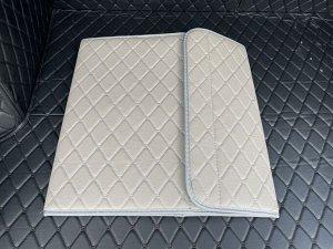 НОВИНКА ! Органайзер Средний Эко Кожа в багажник авто Серый с серой строчкой Akuma