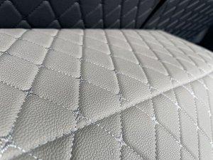 НОВИНКА ! Органайзер Большой Эко Кожа в багажник авто Серый с серой строчкой Akuma