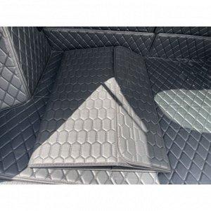 НОВИНКА ! Органайзер Большой Эко Кожа в багажник авто Черный с черной строчкой Akuma