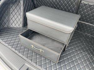 НОВИНКА ! Органайзер Средний Эко Кожа в багажник авто черный Akuma