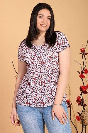 Бордовый Примечание: замеры длин соответствуют размеру 50. Длина блузы: 63 см. Длина рукава: 9 см. Подкладка: нет. Застёжка: нет. Карманы: нет. Декор: нет. Состав: полиэстер 100%.
