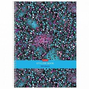 """Тетрадь А4 160 л. HATBER спираль, клетка, обложка твердая, """"Мозаика"""", 160Тт4В1сп_22011"""