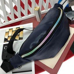 Поясная сумочка Mezalia из мягкой эко-кожи цвета тёмный индиго.
