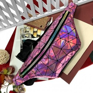 Поясная сумочка Jetem из эко-кожи розового цвета с отливом хамелеон.