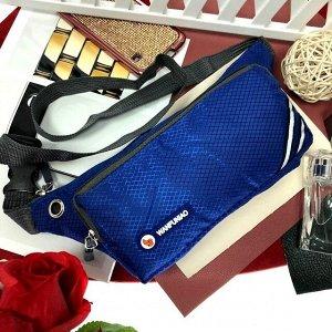 Поясная сумочка Esse Wan из текстиля ультра синего цвета.