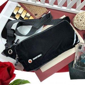 Поясная сумочка Esse Wan из текстиля черного цвета.