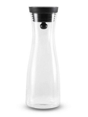 7228 GIPFEL Графин BORGO с крышкой 1500мл. Материал: термостойкое боросиликатное стекло, силикон, нержавеющая сталь 18/10.