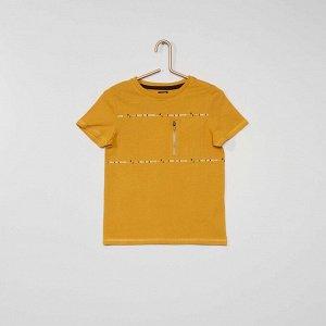 Футболка с надписью 'Choose your direction' - желтый