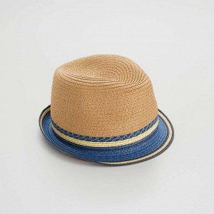 Соломенная шляпа - голубой