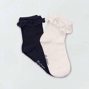 Нарядные короткие носки - розовый