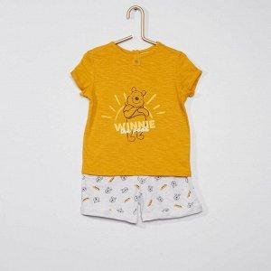 Комплект из шорт и футболки 'Винни-Пух' от Disney - желтый