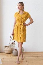 Платье Мириам №4. Цвет:охра/горох