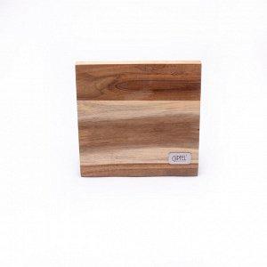9862 GIPFEL Подставка для ножей на магнитах, 24х22см. Материал: дерево.