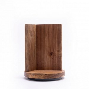 9863 GIPFEL Подставка для ножей на магнитах, вращающаяся, 21х18см. Материал: дерево.