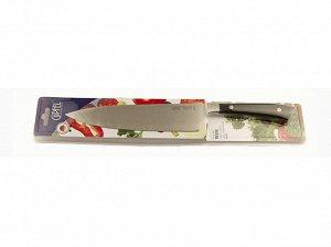 9865 GIPFEL Нож поварской RISSE 20см. Материал лезвия: нерж. сталь X30Cr13. Материал ручки: пластик. Толщина: 2,3мм