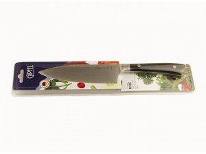 9866 GIPFEL Нож поварской RISSE 15см. Материал лезвия: нерж. сталь 3Cr13. Материал ручки: пластик. Толщина: 2,3мм