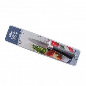 """9880 GIPFEL Нож для чистки овощей 9см. Материал лезвия: нерж. сталь 3CR13. Материал ручки: пластик с покрытием """"Soft-touch"""""""