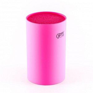 3708 GIPFEL Подставка для ножей 11х11х18см розового цвета Материал: PP с покрытием TPR