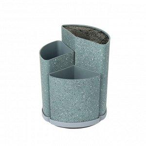 8441 GIPFEL Подставка под ножи универсальная BAXTER, 22 см, 18 см, 14 см. Материал: пластик. Цвет: серый мрамор.