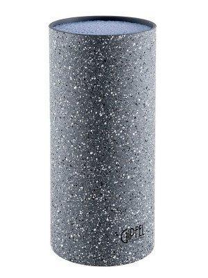 8442 GIPFEL Подставка для ножей MALATTI, 22х11 см. Материал: пластик, термопластичная резина. Цвет: серый мрамор.