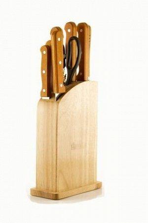 8468 WERNER Набор кухонных ножей 9 пр. на деревянной подставке. Материал лезвия: нерж. сталь. Материал ручек: дерево.