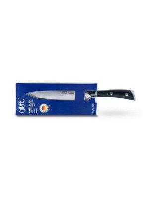9931 GIPFEL Нож универсальный LAFFI BLACK 13см. Материал лезвия: сталь X50CrMoV15, полирование зеркальное. Материал ручки: сталь, древеснослоистый пластик. Толщина: 2,0мм