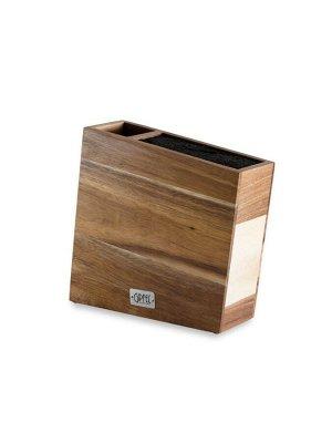 6990 GIPFEL Подставка для ножей и кухонных аксессуаров 26х8,5х26,5см. Материал: акация, пластик.