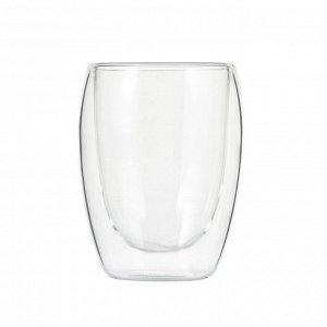 50413 WERNER Набор из двух стеклянных стаканов LINEE с двойными стенками 320мл. Материал: боросиликатное стекло