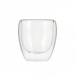 50414 WERNER Набор из двух стеклянных стаканов LINEE с двойными стенками 250мл. Материал: боросиликатное стекло