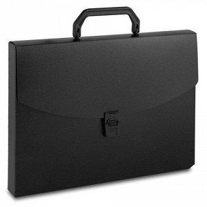 Портфель пластиковый A4 1 отделение 0.7мм черный Бюрократ