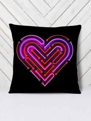 Подушка Neon heart