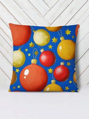 Подушка Новогодние шары