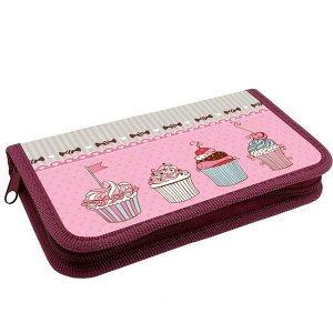 Пенал 1 отд. 190*110мм ППК 03-5 Sweet cake ламинат, арт. 56634 /36/