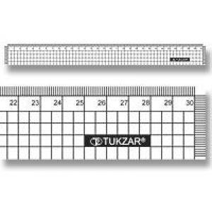 Линейка 30см пластиковая YC25030 /TZ 381 в клетку /2000