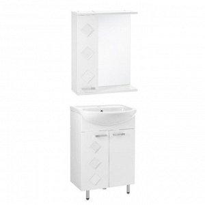 Набор мебели Квадро 55: тумба с раковиной + шкаф-зеркало   4732149