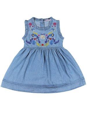 Платье для девочки OP685П синий