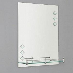 Зеркало в ванную комнату Ассоona, 60?45 см, A616, 1 полка