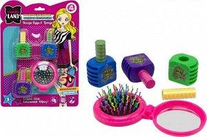 Набор детской декоративной косметики (мелки для волос, с расческой с зеркалом), TM LAPULLIKIDS
