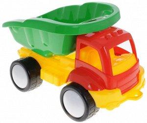 Грузовик Грузовик обязательно понравится малышу и доставит ему много удовольствия от часов, посвященных игре с ним. Грузовик имеет вместительный подвижный кузов и большие колеса. Грузовик отлично подо