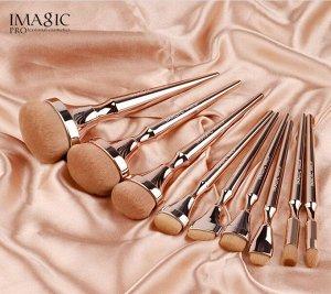 Набор профессиональных кистей для макияжа IMAGIC (9 шт внаборе)