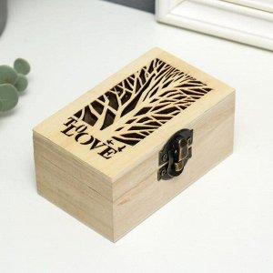 Шкатулка дерево для росписи To LOVE 6х10х5 см