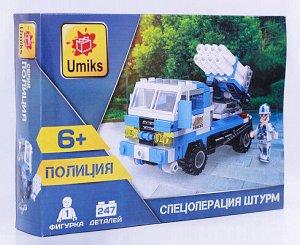 U0247 Umiks. Конструктор Зенитная установка, 247 дет. (240*180*50 мм)