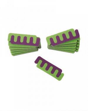 Разделители для пальцев ног разноцветные, 25 пар