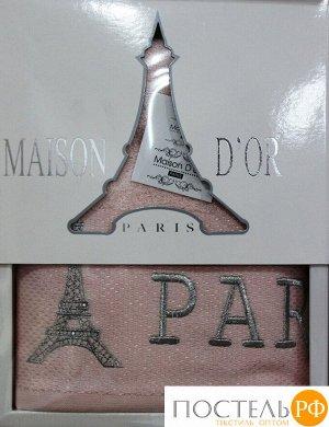 """Полотенце в коробке """"PARIS"""" (50х100) Г.РОЗ  (Maison Dor)"""