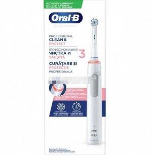 Орал-Би Щетка Зубная Электрическая Professional Clean & Protect 3 Тип 3772 С Зарядным Устройством Тип 3757