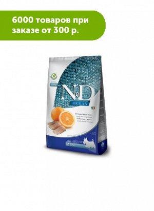 Farmina N&D Dog Ocean Grain Free сухой беззерновой корм для собак мелких пород Рыба/Апельсин 2,5кг