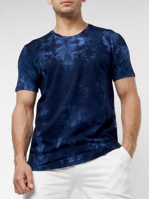 Мужская футболка варенка темно-синего цвета 221005TS