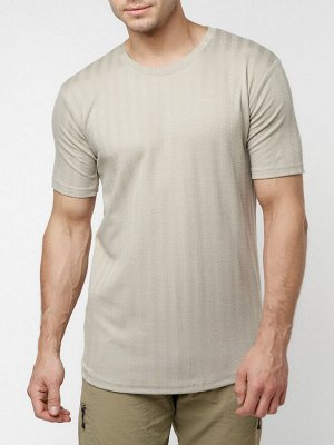 Мужская футболка в сетку бежевого цвета 221490B